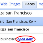 Google Open Now Filter