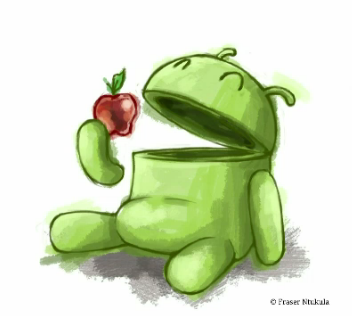 Google Android_Eating_Apple Image